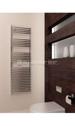 500mm Wide 1600mm High Supreme Chrome Designer Tube on Tube Towel Radiator