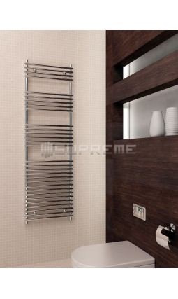 500mm Wide 1600mm High Supreme Chrome Designer Tube on Tube Towel Radiator