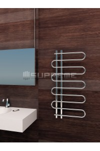 500mm Wide 1000mm High Supreme Chrome Designer Towel Radiator