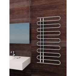 600mm Wide 1200mm High Supreme Chrome Designer Round Pipe Towel Radiator