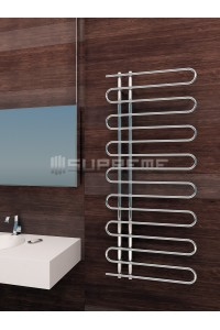 600mm Wide 1400mm High Supreme Chrome Designer Round Pipe Towel Radiator