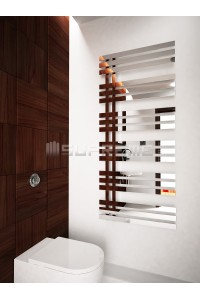 600mm Wide 1400mm High Supreme Chrome Designer Mirror Effect Towel Radiator