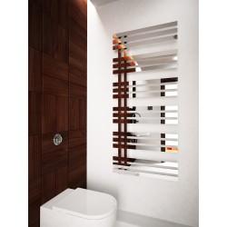 600mm Wide 1400mm High Supreme Chrome Designer Mirror Effect Towel Radiator