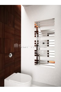 500mm Wide 1200mm High Supreme Chrome Designer Mirror Effect Towel Radiator