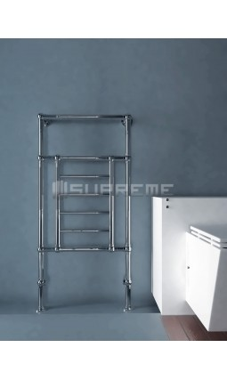 600mm Wide 1200mm High Supreme Chrome Traditional Towel Radiator
