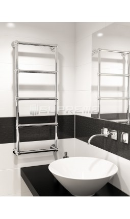 500mm Wide 1200mm High Supreme Chrome Traditional Towel Radiator