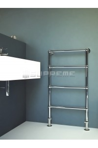 600mm Wide 1100mm High Supreme Chrome Traditional Towel Radiator