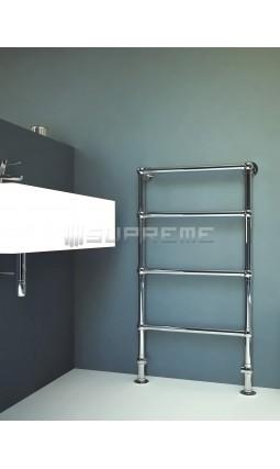 600mm Wide 1100mm High Supreme Chrome Traditional Towel Radiator