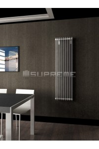 400mm Wide 1400mm High Supreme White Designer Vertical Radiator