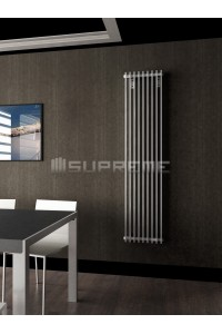 400mm Wide 1700mm High Supreme White Designer Vertical Radiator