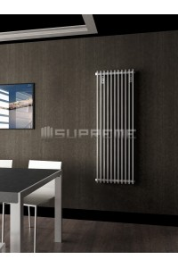 500mm Wide 1400mm High Supreme White Designer Vertical Radiator