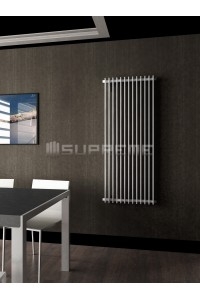 600mm Wide 1400mm High Supreme White Designer Vertical Radiator