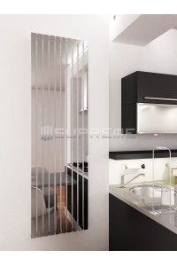500mm Wide 1700mm High Supreme Chrome Designer Rectangular Pipe Vertical Radiator