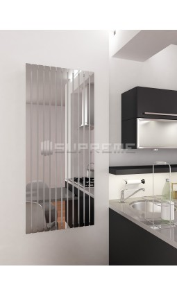 600mm Wide 1400mm High Supreme Chrome Designer Rectangular Pipe Vertical Radiator