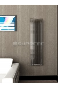 400mm Wide 1400mm High Supreme Chrome Designer Vertical Radiator