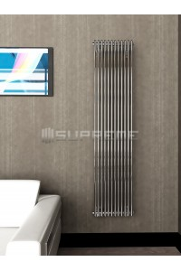 400mm Wide 1700mm High Supreme Chrome Designer Vertical Radiator