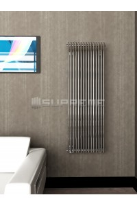 500mm Wide 1400mm High Supreme Chrome Designer Vertical Radiator