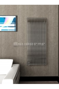 600mm Wide 1400mm High Supreme Chrome Designer Vertical Radiator
