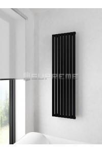400mm Wide 1400mm High Supreme Black Designer Vertical Radiator