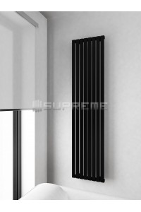 400mm Wide 1700mm High Supreme Black Designer Vertical Radiator
