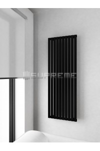 500mm Wide 1400mm High Supreme Black Designer Vertical Radiator