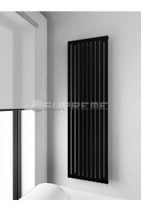 500mm Wide 1700mm High Supreme Black Designer Vertical Radiator