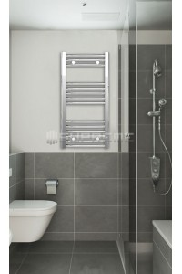 400mm Wide 800mm High Chrome Curved Towel Radiator
