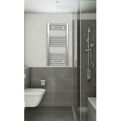 Chrome Curved Towel Radiator 400mm Wide 800mm High