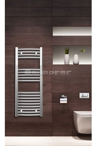 Chrome Curved Towel Radiator 400mm Wide 1000mm High