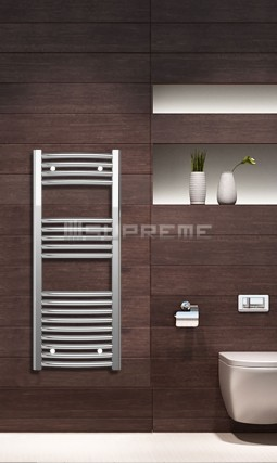 400mm Wide 1000mm High Chrome Curved Towel Radiator
