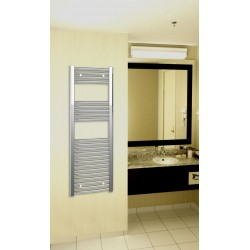 400mm Wide 1200mm High Chrome Curved Towel Radiator