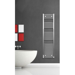 Chrome Curved Towel Radiator 400mm Wide 1500mm High