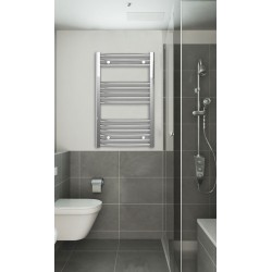 500mm Wide 800mm High Chrome Curved Towel Radiator