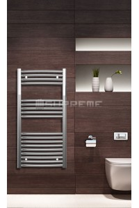 Chrome Curved Towel Radiator 500mm Wide 1000mm High