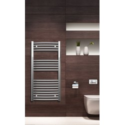 500mm Wide 1000mm High Chrome Curved Towel Radiator