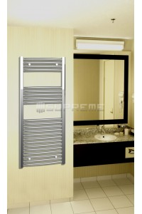 Chrome Curved Towel Radiator 500mm Wide 1200mm High