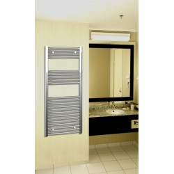 500mm Wide 1200mm High Chrome Curved Towel Radiator