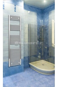 Chrome Curved Towel Radiator 500mm Wide 1760mm High