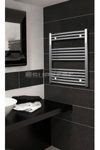 Chrome Curved Towel Radiator 600mm Wide 800mm High