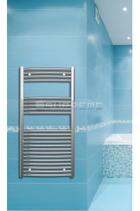 Chrome Curved Towel Radiator 600mm Wide 1200mm High