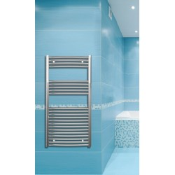 600mm Wide 1200mm High Chrome Curved Towel Radiator