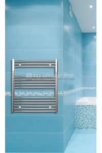 Chrome Curved Towel Radiator 700mm Wide 800mm High