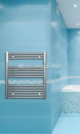 700mm Wide 800mm High Chrome Curved Towel Radiator