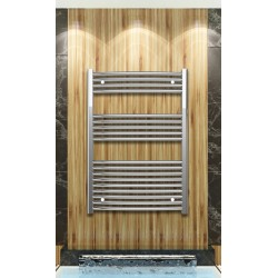 Chrome Curved Towel Radiator 700mm Wide 1000mm High