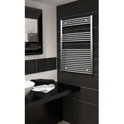700mm Wide 1200mm High Chrome Curved Towel Radiator