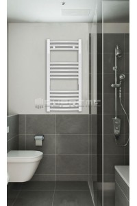 400mm Wide 800mm High White Curved Towel Radiator