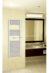 400mm Wide 1200mm High White Curved Towel Radiator