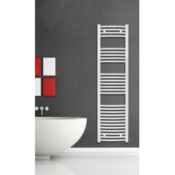 400mm Wide 1500mm High White Curved Towel Radiator