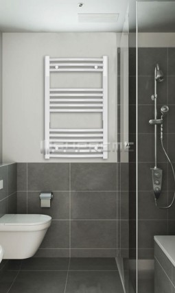 500mm Wide 800mm High White Curved Towel Radiator