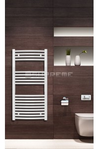 500mm Wide 1000mm High White Curved Towel Radiator
